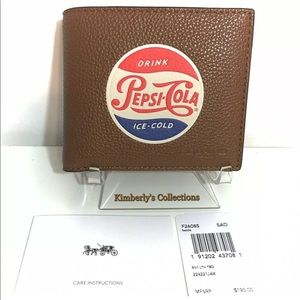 Coach Bags - Coach Pepsi Leather Wallet New